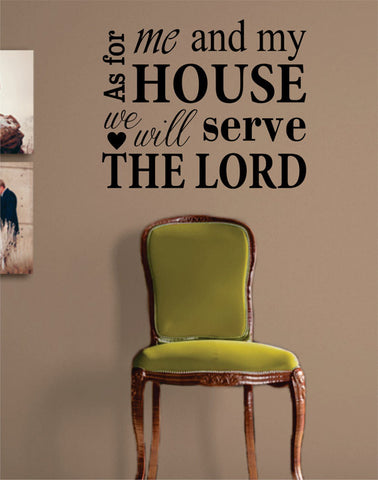 We Will Serve the Lord Quote Religious Decal Sticker Wall Vinyl Art Home Room Decor - boop decals - vinyl decal - vinyl sticker - decals - stickers - wall decal - vinyl stickers - vinyl decals