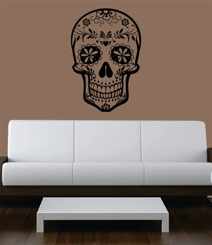 Sugar Skull Version 5 Art Decal Sticker Wall Vinyl - boop decals - vinyl decal - vinyl sticker - decals - stickers - wall decal - vinyl stickers - vinyl decals