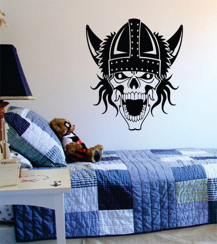 Viking Skull Art Decal Sticker Wall Vinyl - boop decals - vinyl decal - vinyl sticker - decals - stickers - wall decal - vinyl stickers - vinyl decals