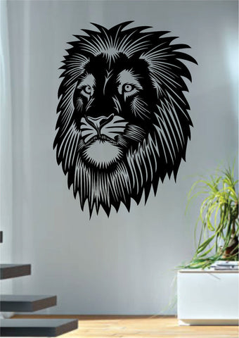 Lion Face Design Animal Decal Sticker Wall Vinyl Decor Art