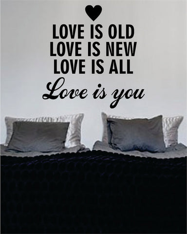 Love is You The Beatles Quote Design Sports Decal Sticker Wall Vinyl