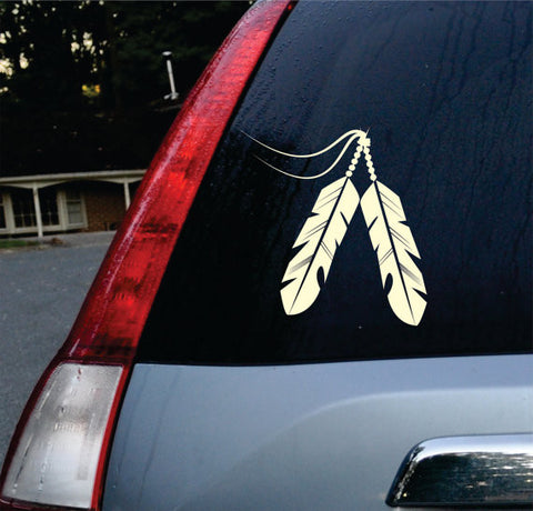 Feathers Car Window Design Decal Sticker Wall Vinyl Art