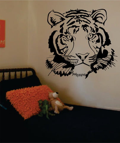 Tiger Face Version 2 Design Animal Decal Sticker Wall Vinyl Decor Art - boop decals - vinyl decal - vinyl sticker - decals - stickers - wall decal - vinyl stickers - vinyl decals