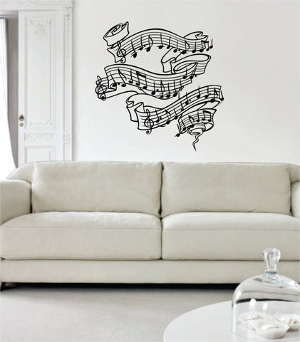 Music Notes Version 2 Art Decal Sticker Wall Vinyl