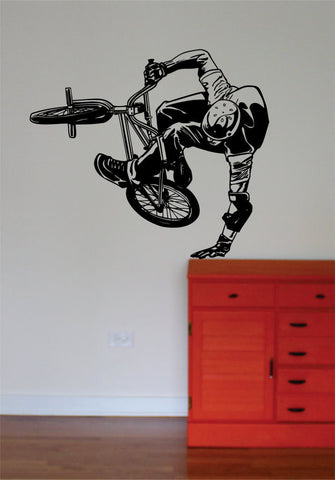 BMX Biker Version 5 Design Sports Decal Sticker Wall Vinyl - boop decals - vinyl decal - vinyl sticker - decals - stickers - wall decal - vinyl stickers - vinyl decals