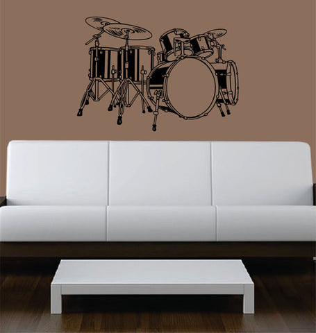 Drumset Version 3 Drummer Music Art Decal Sticker Wall Vinyl - boop decals - vinyl decal - vinyl sticker - decals - stickers - wall decal - vinyl stickers - vinyl decals