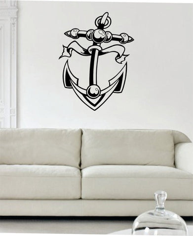 Anchor Version 3 Nautical Ocean Beach Decal Sticker Wall Vinyl Art Decor - boop decals - vinyl decal - vinyl sticker - decals - stickers - wall decal - vinyl stickers - vinyl decals