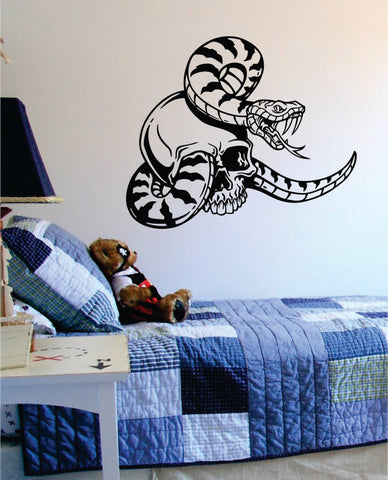 Skull and Snake Art Decal Sticker Wall Vinyl - boop decals - vinyl decal - vinyl sticker - decals - stickers - wall decal - vinyl stickers - vinyl decals