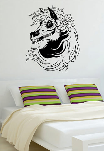 Day of the Dead Horse Sugar Skull Art Decal Sticker Wall Vinyl - boop decals - vinyl decal - vinyl sticker - decals - stickers - wall decal - vinyl stickers - vinyl decals