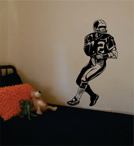 Football Player Version 1 Sports Decal Sticker Wall Vinyl - boop decals - vinyl decal - vinyl sticker - decals - stickers - wall decal - vinyl stickers - vinyl decals