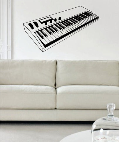 Electric Keyboard Piano Art Decal Sticker Wall Vinyl - boop decals - vinyl decal - vinyl sticker - decals - stickers - wall decal - vinyl stickers - vinyl decals