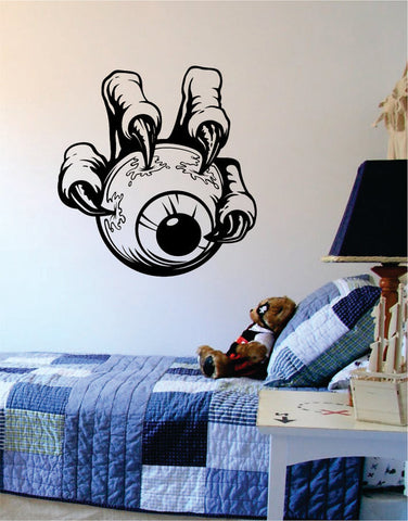 Claw Holding Eyeball Design Decal Sticker Wall Vinyl Decor Art - boop decals - vinyl decal - vinyl sticker - decals - stickers - wall decal - vinyl stickers - vinyl decals
