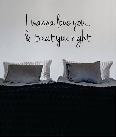 Bob Marley I Wanna Love You and Treat Version 2 Decal Quote Sticker Wall Vinyl Art Decor - boop decals - vinyl decal - vinyl sticker - decals - stickers - wall decal - vinyl stickers - vinyl decals