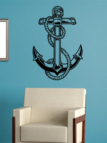 Anchor Version 4 Nautical Ocean Beach Decal Sticker Wall Vinyl Art Decor - boop decals - vinyl decal - vinyl sticker - decals - stickers - wall decal - vinyl stickers - vinyl decals