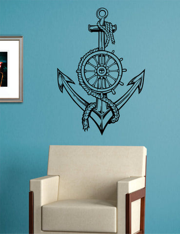 Anchor Version 5 Nautical Ocean Beach Decal Sticker Wall Vinyl Art Decor - boop decals - vinyl decal - vinyl sticker - decals - stickers - wall decal - vinyl stickers - vinyl decals