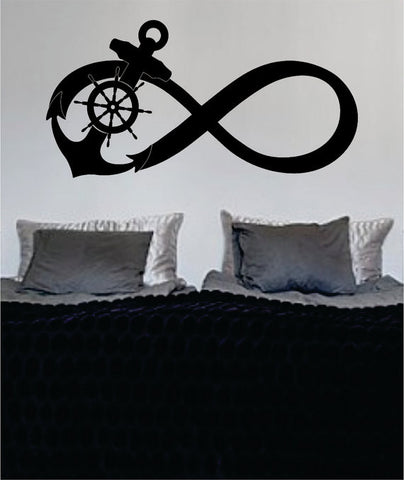 Anchor Infinity Sign Nautical Ocean Beach Decal Sticker Wall Vinyl Art Decor - boop decals - vinyl decal - vinyl sticker - decals - stickers - wall decal - vinyl stickers - vinyl decals