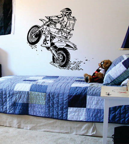 Dirtbiker Wheelie Motocross Design Sports Decal Sticker Wall Vinyl - boop decals - vinyl decal - vinyl sticker - decals - stickers - wall decal - vinyl stickers - vinyl decals