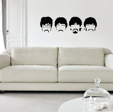 The Beatles Faces Art Decal Sticker Wall Vinyl - boop decals - vinyl decal - vinyl sticker - decals - stickers - wall decal - vinyl stickers - vinyl decals