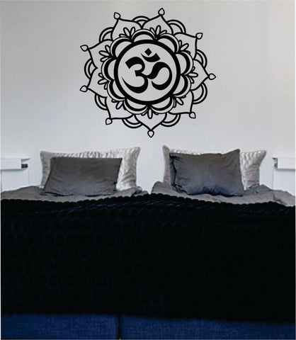 Mandala OM Decal Sticker Wall Vinyl - boop decals - vinyl decal - vinyl sticker - decals - stickers - wall decal - vinyl stickers - vinyl decals