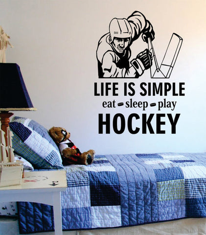 Eat Sleep Play Hockey Version 2 Design Sports Decal Sticker Wall Vinyl - boop decals - vinyl decal - vinyl sticker - decals - stickers - wall decal - vinyl stickers - vinyl decals