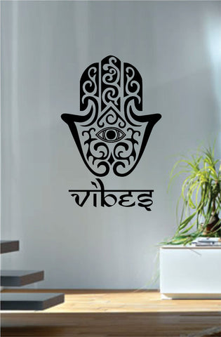 Hamsa Hand Vibes Version 5 Design Decal Sticker Wall Vinyl Decor Art - boop decals - vinyl decal - vinyl sticker - decals - stickers - wall decal - vinyl stickers - vinyl decals