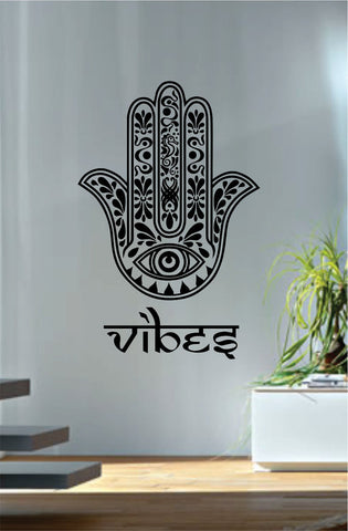 Hamsa Hand Vibes Version 7 Design Decal Sticker Wall Vinyl Decor Art - boop decals - vinyl decal - vinyl sticker - decals - stickers - wall decal - vinyl stickers - vinyl decals