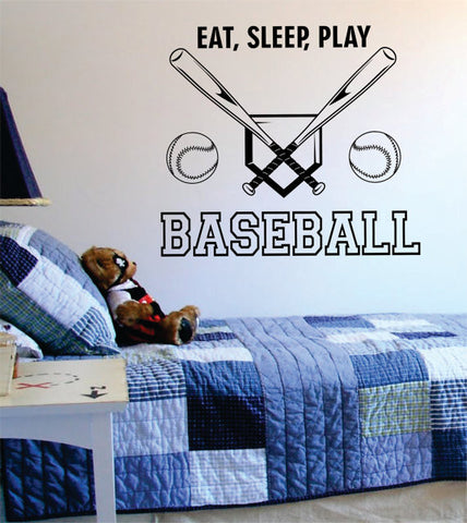 Eat Sleep Play Baseball Version 3 Sports Decal Sticker Wall Vinyl - boop decals - vinyl decal - vinyl sticker - decals - stickers - wall decal - vinyl stickers - vinyl decals