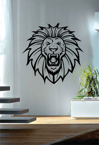 Lion Roar Version 2 Design Animal Decal Sticker Wall Vinyl Decor Art
