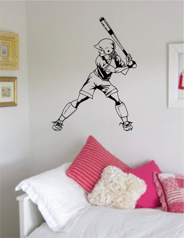 Softball Player Version 3 Sports Decal Sticker Wall Vinyl - boop decals - vinyl decal - vinyl sticker - decals - stickers - wall decal - vinyl stickers - vinyl decals