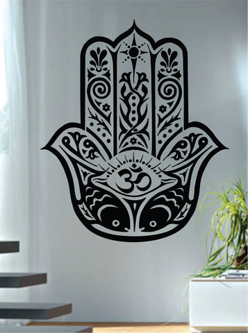 Hamsa Hand Version 12 Design Decal Sticker Wall Vinyl Decor Art - boop decals - vinyl decal - vinyl sticker - decals - stickers - wall decal - vinyl stickers - vinyl decals