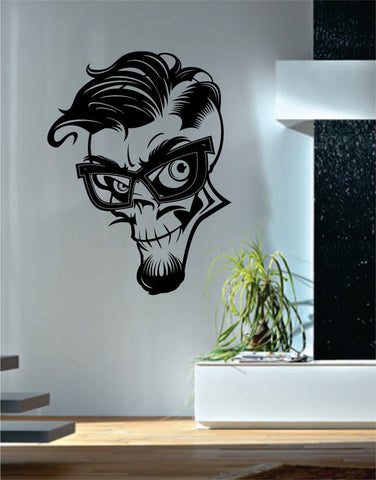 Hipster Skull Art Decal Sticker Wall Vinyl - boop decals - vinyl decal - vinyl sticker - decals - stickers - wall decal - vinyl stickers - vinyl decals