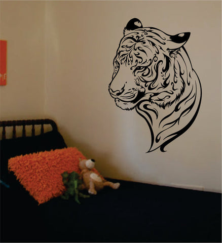 Tiger Face Version 5 Design Animal Decal Sticker Wall Vinyl Decor Art - boop decals - vinyl decal - vinyl sticker - decals - stickers - wall decal - vinyl stickers - vinyl decals