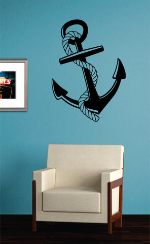 Anchor with Rope Nautical Ocean Beach Decal Sticker Wall Vinyl Art Decor - boop decals - vinyl decal - vinyl sticker - decals - stickers - wall decal - vinyl stickers - vinyl decals