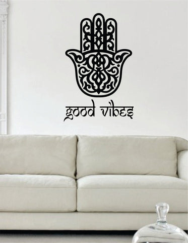 Good Vibes Hamsa Hand Version 2 Decal Sticker Wall Vinyl - boop decals - vinyl decal - vinyl sticker - decals - stickers - wall decal - vinyl stickers - vinyl decals