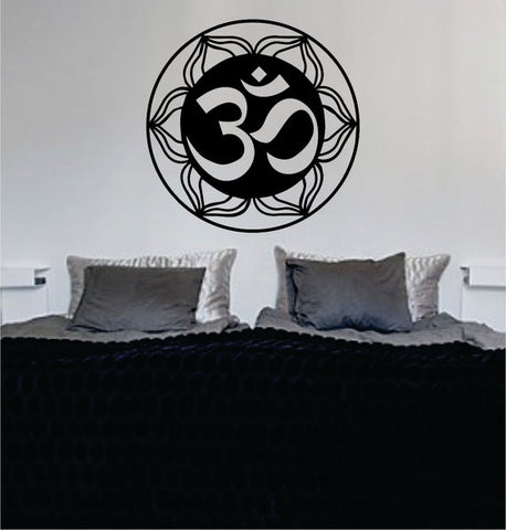 Mandala OM Version 3 Decal Sticker Wall Vinyl - boop decals - vinyl decal - vinyl sticker - decals - stickers - wall decal - vinyl stickers - vinyl decals
