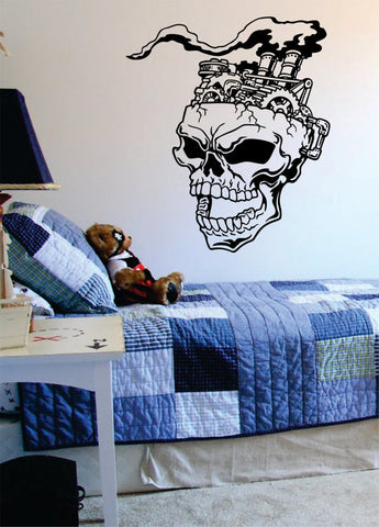 Steampunk Skull Version 2 Art Decal Sticker Wall Vinyl - boop decals - vinyl decal - vinyl sticker - decals - stickers - wall decal - vinyl stickers - vinyl decals