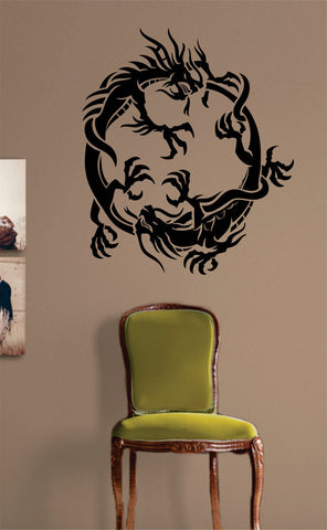 2 Dragons Design Decal Sticker Wall Vinyl Decor Art - boop decals - vinyl decal - vinyl sticker - decals - stickers - wall decal - vinyl stickers - vinyl decals