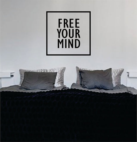 Free Your Mind Simple Square Design Quote Decal Sticker Wall Vinyl Decor Art - boop decals - vinyl decal - vinyl sticker - decals - stickers - wall decal - vinyl stickers - vinyl decals
