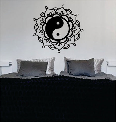 Mandala Yin Yang Decal Sticker Wall Vinyl - boop decals - vinyl decal - vinyl sticker - decals - stickers - wall decal - vinyl stickers - vinyl decals
