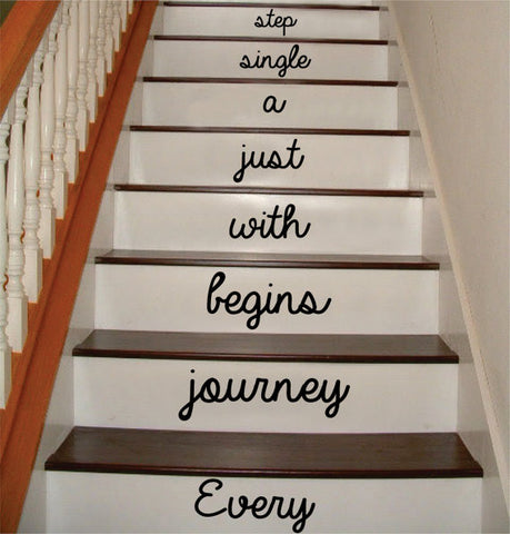 Every Journey Stairs Version 2 Decor Decal Sticker Wall Vinyl Art - boop decals - vinyl decal - vinyl sticker - decals - stickers - wall decal - vinyl stickers - vinyl decals
