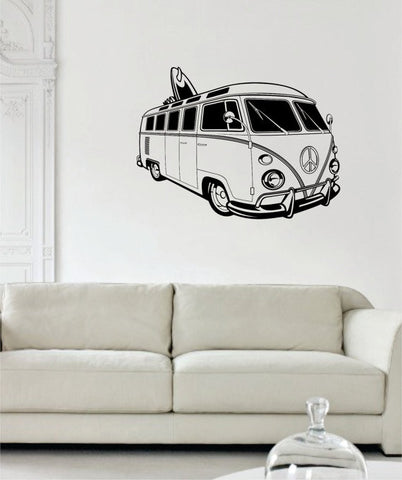 VW Mini Bus Volkswagen Surfer Car Design Decal Sticker Wall Vinyl Decor Art - boop decals - vinyl decal - vinyl sticker - decals - stickers - wall decal - vinyl stickers - vinyl decals