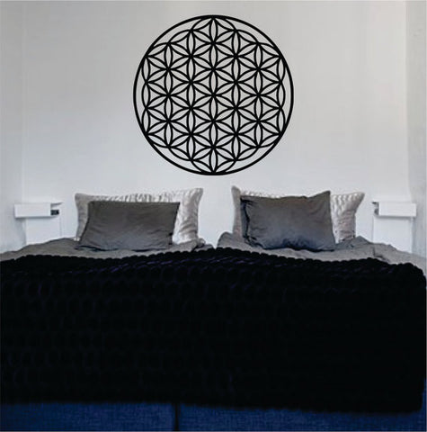 Flower of Life Version 2 Sacred Geometry Decal Sticker Wall Vinyl - boop decals - vinyl decal - vinyl sticker - decals - stickers - wall decal - vinyl stickers - vinyl decals