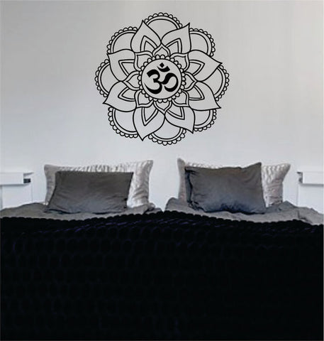 Mandala OM Version 5 Decal Sticker Wall Vinyl - boop decals - vinyl decal - vinyl sticker - decals - stickers - wall decal - vinyl stickers - vinyl decals