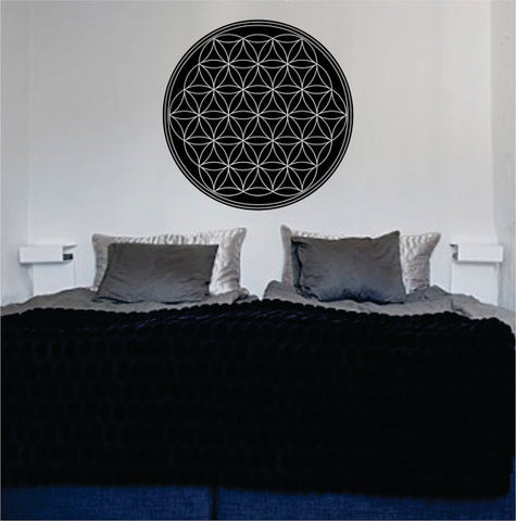 Flower of Life Version 1 Sacred Geometry Decal Sticker Wall Vinyl - boop decals - vinyl decal - vinyl sticker - decals - stickers - wall decal - vinyl stickers - vinyl decals