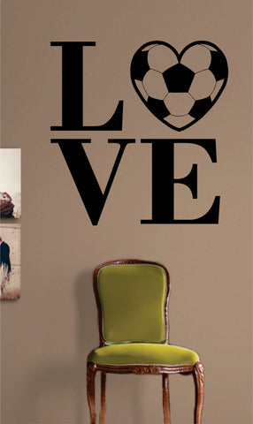 Soccer Love Quote Sports Decal Sticker Wall Vinyl - boop decals - vinyl decal - vinyl sticker - decals - stickers - wall decal - vinyl stickers - vinyl decals