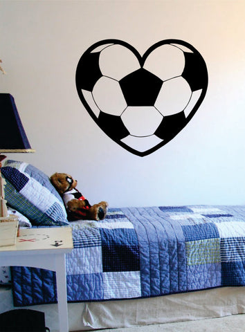Soccer Heart Sports Decal Sticker Wall Vinyl - boop decals - vinyl decal - vinyl sticker - decals - stickers - wall decal - vinyl stickers - vinyl decals