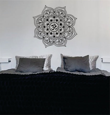 Mandala OM Version 4 Decal Sticker Wall Vinyl - boop decals - vinyl decal - vinyl sticker - decals - stickers - wall decal - vinyl stickers - vinyl decals
