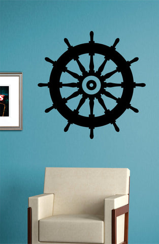 Boat Steering Wheel Nautical Ocean Beach Decal Sticker Wall Vinyl Art Decor - boop decals - vinyl decal - vinyl sticker - decals - stickers - wall decal - vinyl stickers - vinyl decals