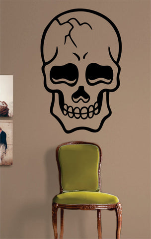 Cool Skull Version 2 Art Decal Sticker Wall Vinyl - boop decals - vinyl decal - vinyl sticker - decals - stickers - wall decal - vinyl stickers - vinyl decals