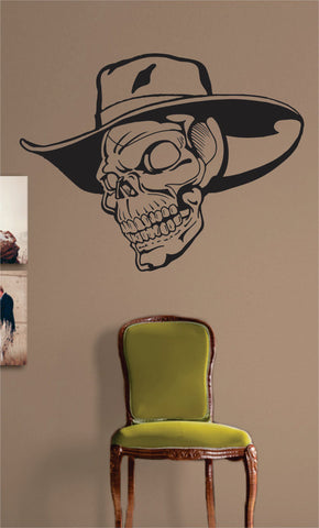 Cowbow Hat Skull Design Art Decal Sticker Wall Vinyl - boop decals - vinyl decal - vinyl sticker - decals - stickers - wall decal - vinyl stickers - vinyl decals
